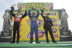 Top Fuel winner Doug Kalitta, Funny Car winner Ron Capps, Pro Stock winner Erica Enders-Stevens