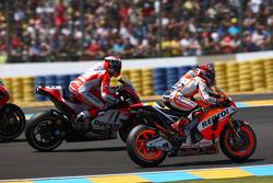 Marc Marquez, Repsol Honda Team and Andrea Dovizioso, Ducati Team