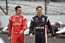Simon Pagenaud, Team Penske Chevrolet and Will Power, Team Penske Chevrolet