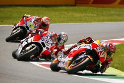 Marc Marquez, Repsol Honda Team and Andrea Dovizioso and Andrea Iannone, Ducati Team