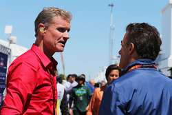 David Coulthard, Red Bull Racing and Scuderia Toro Advisor / BBC Television Commentator with Jean Alesi