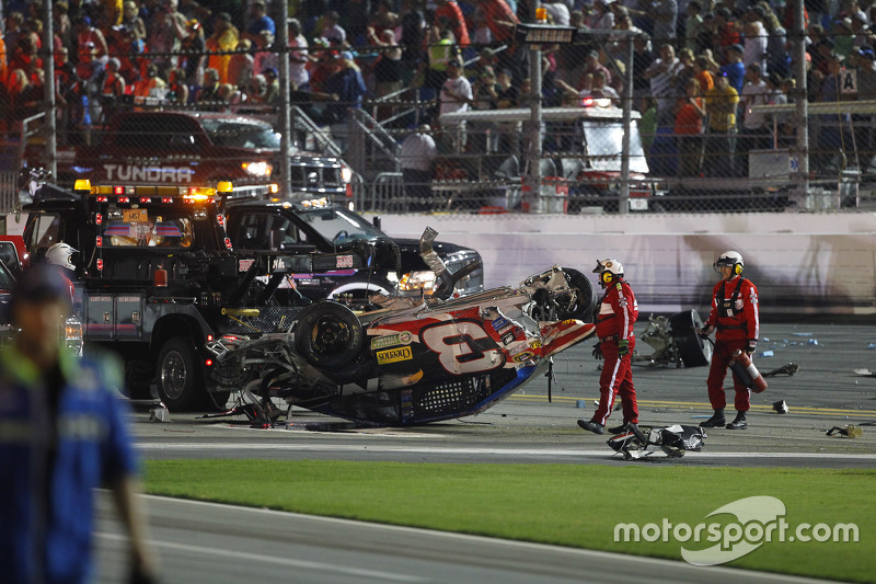 Wrecked car of Austin Dillon, Richard Childress Racing Chevrolet