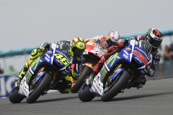 Jorge Lorenzo and Valentino Rossi, Yamaha Factory Racing and Dani Pedrosa, Repsol Honda Team