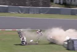 Casey Stoner crashes violently