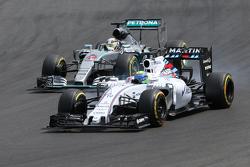 Felipe Massa, Williams F1 Team en Lewis Hamilton, Mercedes AMG F1 Team
