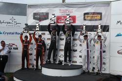 PC podium: Race winners #52 PR1 Mathiasen Motorsports Oreca FLM09: Mike Guasch, Tom Kimber-Smith, second place #11 RSR Racing Oreca FLM09 Chevrolet: Chris Cumming, Bruno Junqueira and third place #8 Starworks Motorsport ORECA FLM09: Renger van der Zande, Mirco Schultis