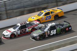 Alex Bowman, Athenian Motorsports Chevrolet, Ryan Blaney, Team Penske Ford and Kyle Busch, Joe Gibbs Racing Toyota