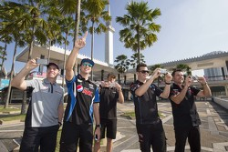 Craig Lowndes, Triple Eight Race Engineering and Chaz Mostert, Prodrive Racing Australia and Will Davison, Erebus Motorsport and Scott McLaughlin, Garry Rogers Motorsport and Todd Kelly, Nissan Motorsports take in the sights around Kuala Lumpur, Malaysia