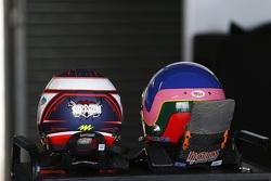 Helmets of Stéphane Sarrazin and Jacques Villeneuve