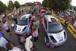 Daniel Sordo and Marc Marti, Hyundai i20 WRC, Hyundai Motorsport and Hayden Paddon and John Kennard, Hyundai i20 WRC, Hyundai Motorsport