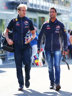 Daniel Ricciardo, Red Bull Racing Stuart Smith, Red Bull Racing Physio