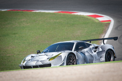 Gianmaria Bruni and Davide Rigon test the Ferrari 488 GTE at the Vallelunga circuit in Italy