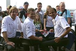 Audi legends Frank Biela, Tom Kristensen, Emanuele Pirro