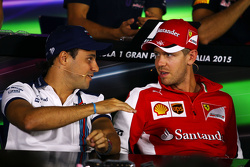 Felipe Massa, Williams and Sebastian Vettel, Ferrari