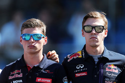 Max Verstappen, Scuderia Toro Rosso and Daniil Kvyat, Red Bull Racing