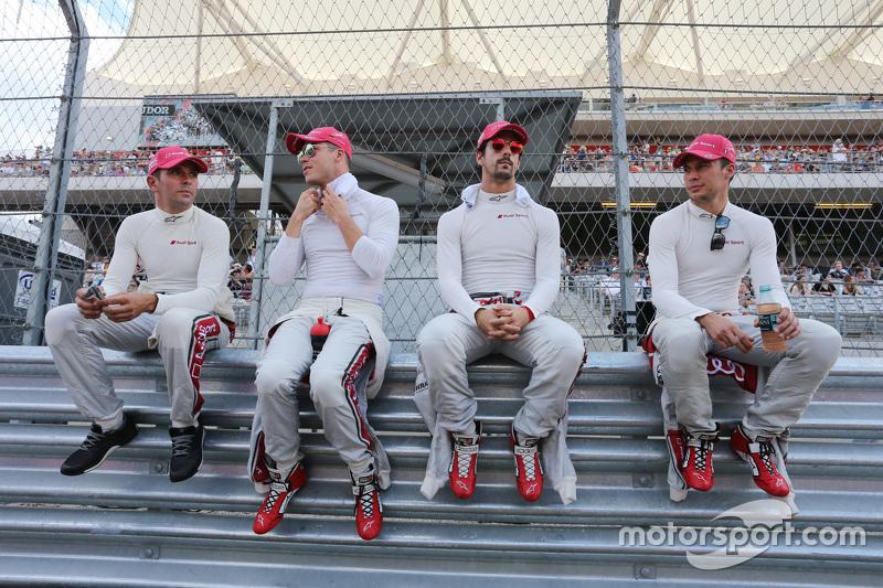 Benoit Tréluyer, Andre Lotterer, Lucas di Grassi, Loic Duval, Audi Sport Team Joest