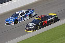 Martin Truex Jr., Furniture Row Racing Chevrolet and Danica Patrick, Stewart-Haas Racing Chevrolet