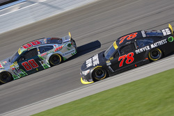Martin Truex Jr., Furniture Row Racing Chevrolet and Dale Earnhardt Jr., Hendrick Motorsports Chevrolet