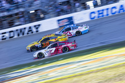 Alex Bowman, Tommy Baldwin Racing and David Gilliland, Front Row Motorsports Ford and Brian Scott, Richard Childress Racing Chevrolet