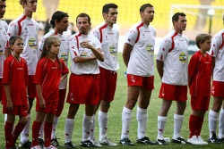 Star Team for Children VS National Team Drivers, Charity Football Match, Louis II StadiumAlbert II: Thomas Biagi and Giorgio Pantano