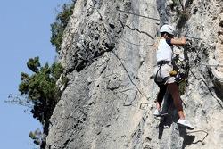 Formula Unas girls in a mountain climbing expedition: Katja Semenova