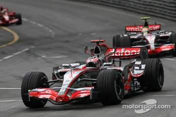 Fernando Alonso, McLaren Mercedes, MP4-22, Lewis Hamilton, McLaren Mercedes, MP4-22 and Felipe Massa, Scuderia Ferrari, F2007