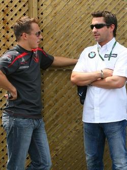 Christian Klien, Test Driver, Honda Racing F1 Team and Timo Glock, Test Driver, BMW Sauber F1 Team