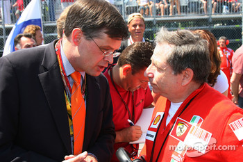 Jean Todt, Scuderia Ferrari, Ferrari CEO and a guest on the grid