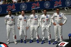 #7 Team Peugeot Total Peugeot 908: Marc Gene, Nicolas Minassian, Jacques Villeneuve, #8 Team Peugeot Total Peugeot 908: Pedro Lamy, Stéphane Sarrazin, Sébastien Bourdais