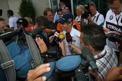 The media interview Sebastian Vettel, Test Driver, BMW Sauber F1 Team who will be replacing Robert Kubica, BMW Sauber F1 Team this weekend