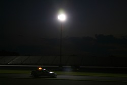 The FIA safety car and medical practice driving in night for preparation of night races in Formula 1