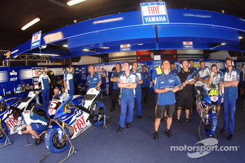 The Yamaha team box