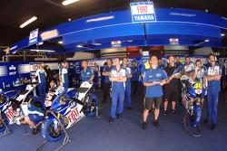 The Yamaha team box
