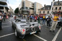 Supercars parade: a Pagani Zonda