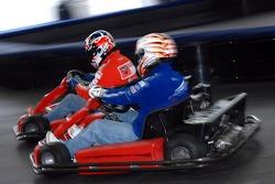Go-kart event: Casey Stoner and Marco Melandri