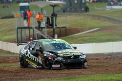 Steve Owen ends his race