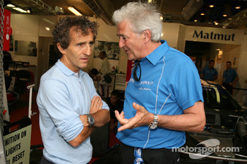 Alain Prost and Hugues de Chaunac