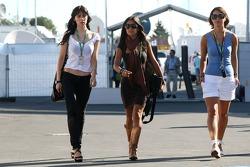 Girls in the paddock