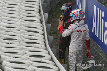 Jenson Button, Honda Racing F1 Team and Scott Speed, Scuderia Toro Rosso