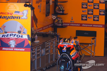 Bike and garage of Nicky Hayden