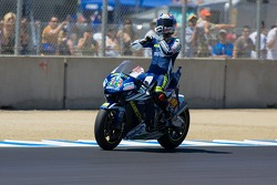Marco Melandri celebrates after taking 3rd