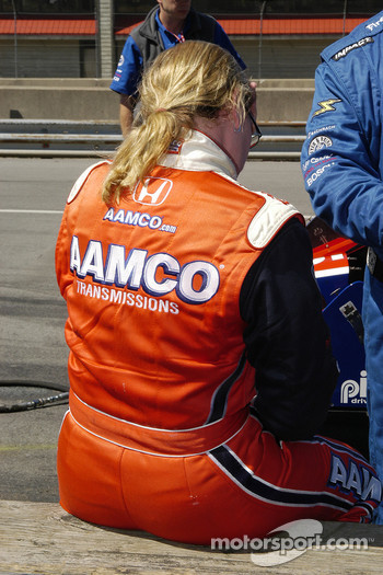 Sarah Fisher knows she needs road course time