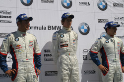 The podium: Daniel Morad, Esteban Guterriez and Ricardo Favoretto