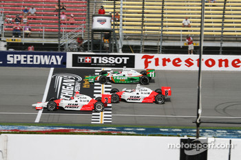 Helio Castroneves, Sam Hornish Jr. and Tony Kanaan