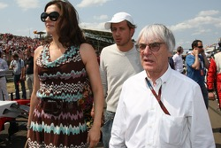 Bernie Ecclestone and his wife Slavica Ecclestone
