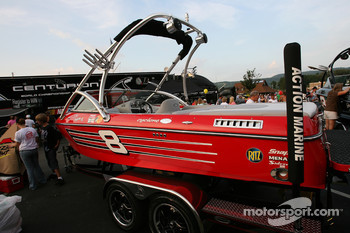 Centurion boats display at the Watkins Glen fan fest