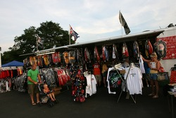 Vendor area at the Watkins Glen fan fest