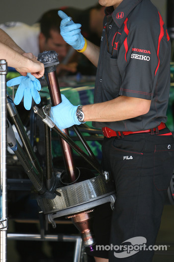 Honda Racing F1 Team, front axle