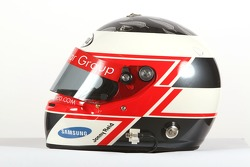 Jonny Reid, driver of A1 Team New Zealand, helmet