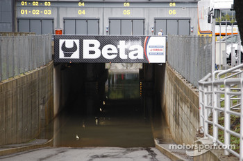 A wet tunnel at Monza